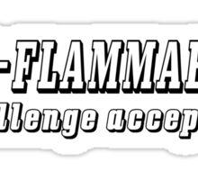 Non Flammable Sticker