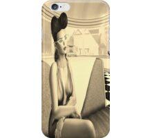 Retro diner girl iPhone Case/Skin