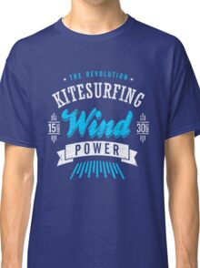 Kitesurfing Wind Power Extreme Sport Classic T-Shirt