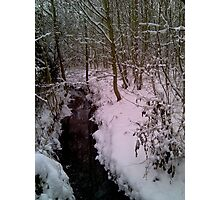 Snow and Water Photographic Print