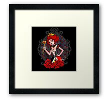 Queen of Hearts - Black Background Framed Print