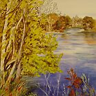 Gananoque Blue and Gold by Lynda Earley