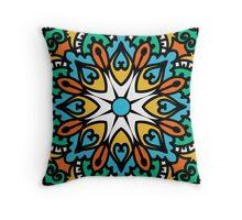 Mandala - Circle Ethnic Ornament Throw Pillow