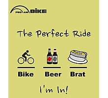 Cycling T Shirt - The Perfect Ride Photographic Print