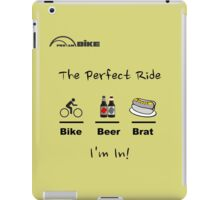 Cycling T Shirt - The Perfect Ride iPad Case/Skin
