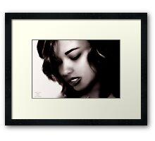 """ Danie , Secret Thoughts "" Framed Print"