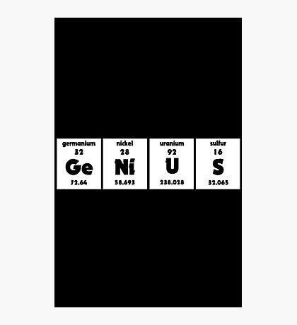 Periodic GeNiUS Photographic Print