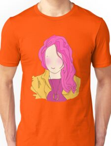 Girl With The Necklace In Orange Unisex T-Shirt