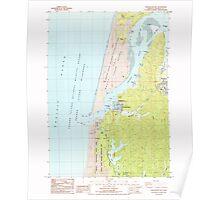 USGS Topo Map Oregon Winchester Bay 282115 1985 24000 Poster