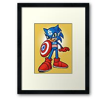 Captain Sonic Framed Print
