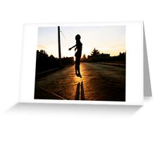 Floating in the Sunset Greeting Card