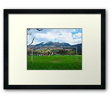 Cold Soccer on the Mountains Framed Print