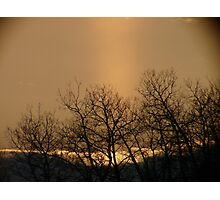 Clouds,Sunbeams and Silhouettes...A Sask,Canada Sunset Photographic Print