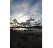 A cloudy Instow Beach Photographic Print