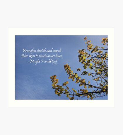 Haiku Branches Art Print