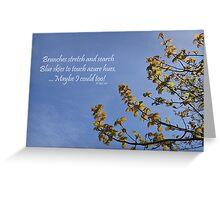 Haiku Branches Greeting Card