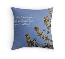 Haiku Branches Throw Pillow