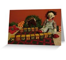 """Vintage Toys say """"Merry Christmas"""" Greeting Card"""