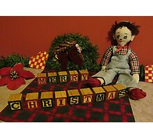 "Vintage Toys say ""Merry Christmas"" Photographic Print"