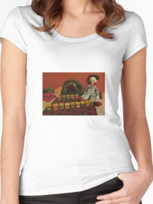 "Vintage Toys say ""Merry Christmas"" Women's Fitted Scoop T-Shirt"