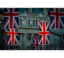 London. Regent Street. Royal Wedding Flags. Photographic Print