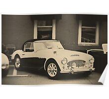 Vintage 1959 Austin Healey 100-6 Poster