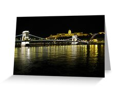 Chain Bridge & Royal Palace, Budapest Greeting Card