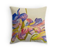 Scattered orchid petals Throw Pillow