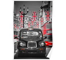 UK. London. Regent Street. Union Jack decorations for Royal Wedding.(Alan Copson ©) Poster