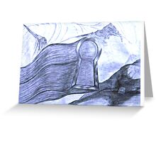 Searching Keyhole Greeting Card