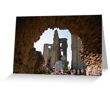 Corfe Castle Arch Greeting Card