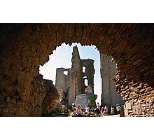 Corfe Castle Arch Photographic Print