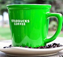 Green Starbucks Cup by Tyler Stierhoff