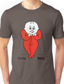 Cutie Baby with text Unisex T-Shirt
