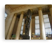 Sculpture, Philadelphia 30th Street Train Station Canvas Print
