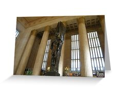Sculpture, Philadelphia 30th Street Train Station Greeting Card