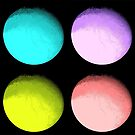 Four Colored Moons by Omar Dakhane