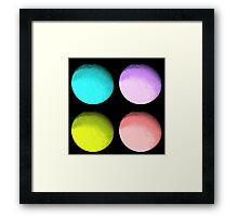 Four Colored Moons Framed Print