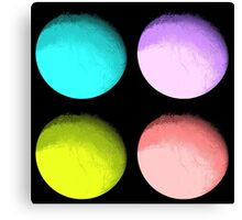 Four Colored Moons Canvas Print