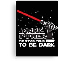 Dark power Canvas Print
