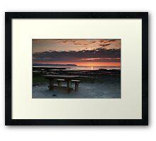 Picnic Table Sunset Framed Print