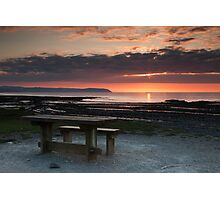 Picnic Table Sunset Photographic Print