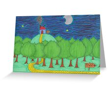 """There Once Was A House That Was High on a Hill..."" Greeting Card"