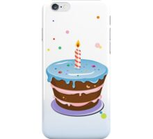 Colorful, chocolate birthday cake  iPhone Case/Skin