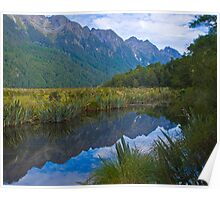 Milford Track - Mirror Lake Poster