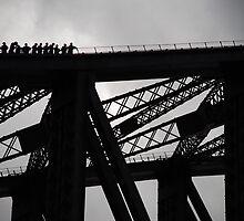 Bridgeclimbers (landscape version) by Andy Parkinson
