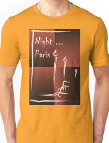 Illustration of a boulevard in Paris at night. For t-shirt or other uses,in vector - stock vector Unisex T-Shirt