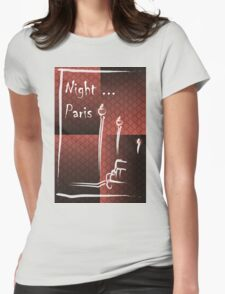 Illustration of a boulevard in Paris at night. For t-shirt or other uses,in vector - stock vector T-Shirt