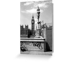 Fame... - Westminster London b&w Greeting Card