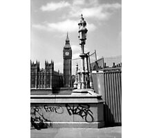 Fame... - Westminster London b&w Photographic Print